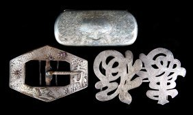 3 Lady's American & Continental Silver Items