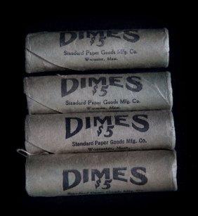 [us] 4 1963 Bu Rolls Roosevelt Dimes