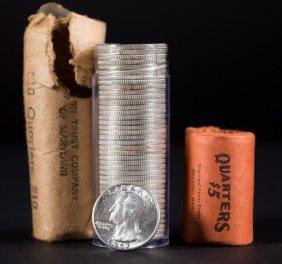 [us] 1.5 Rolls 1962 Bu Washington Quarters