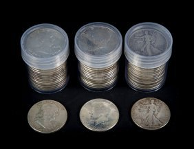 [us] 3 Rolls Silver Us Halves