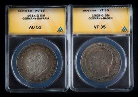 [world] 2 German States Coins