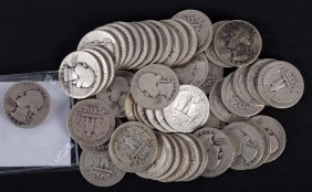 [us] 52 Washington Type Silver Quarters