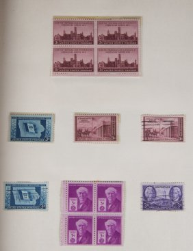 Collection Of U.s. Stamps, 20th Century