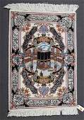Persian Tabriz pictorial rug approx 26 x 35