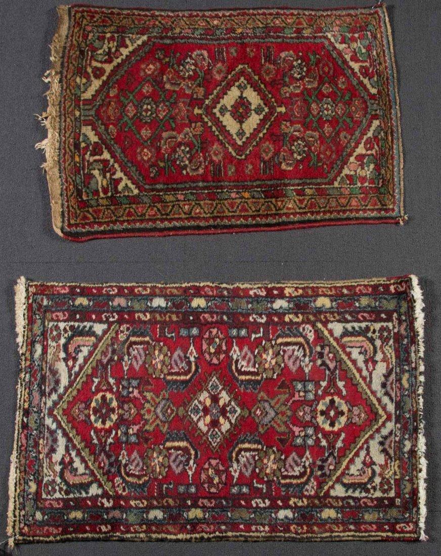 Two Persian Hamadan scatter rugs