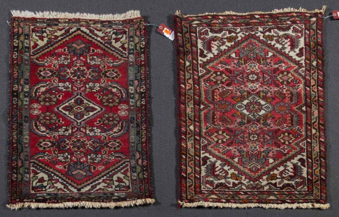 Two Persian Hamadan rugs, approx. 2 x 3 each