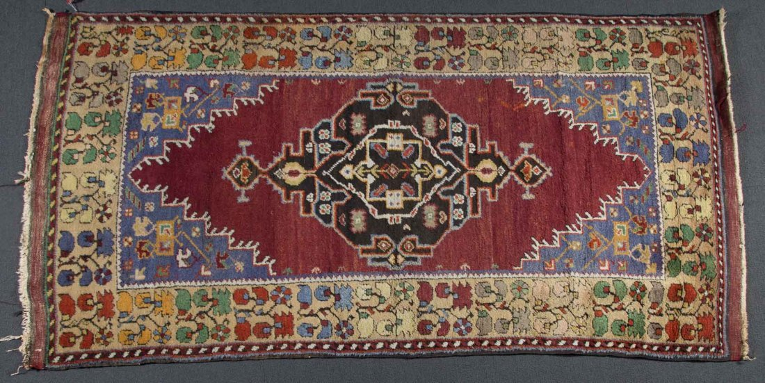 Turkish Tribal rug, approx. 3.9 x 7