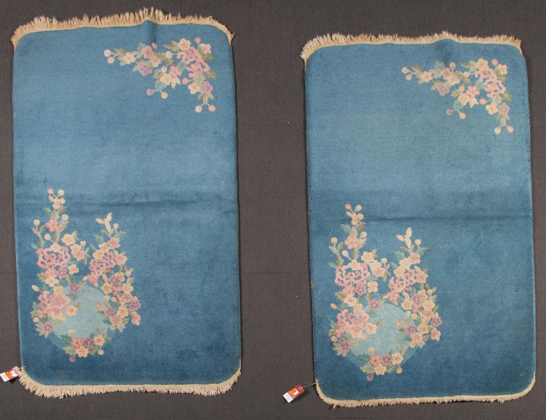 Pair of antique Fette rugs, approx. 3 x 5 each