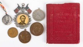Six Assorted Lincoln Medallions And Badges