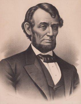 Memorial Portrait Of Abraham Lincoln, C. 1885