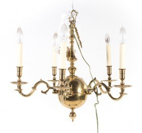 Colonial Williamsburg Brass Chandelier