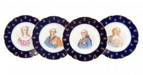 Four Sevres Porcelain Portrait Plates
