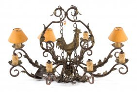 Continental Style Brass And Iron Chandelier