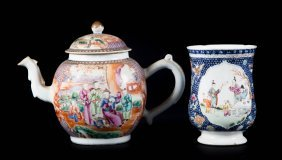 Chinese Export Teapot And Cann
