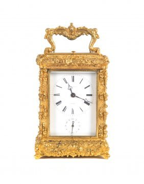 Henri Jacot French Carriage Mantel Clock