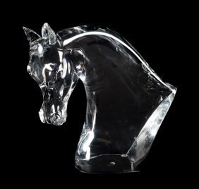 Lalique Crystal Horse's Head