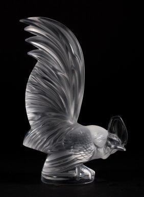 Lalique Crystal Coqmain Figure