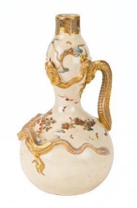 Japanese Satsuma Double Gourd Vase