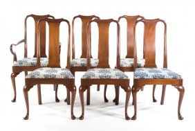 Six Kittinger Mahogany Dining Chairs