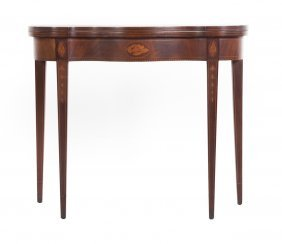 Federal Style Mahogany Flip-top Games Table