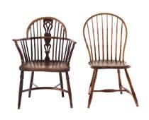 Victorian elm wood Windsor chair