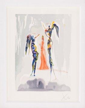 "Salvador Dali. ""the Gloria Patri: Canto 27"" Litho"