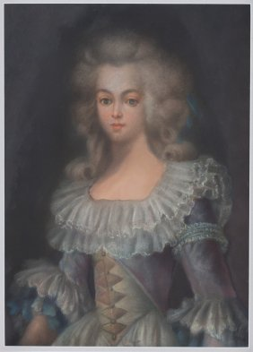 Portrait Of A Lady In 18th C. Costume, Pastel