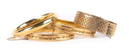 A Collection of Lady's Bangle Bracelets
