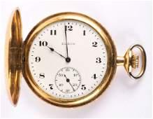 A 14K Elgin Hunter Case Pocket Watch