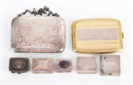 A Collection of Silver Boxes