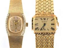 A Pair of Solid 14K Wrist Watches