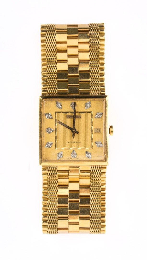 A Gent's Juvenia 18K Gold Wristwatch