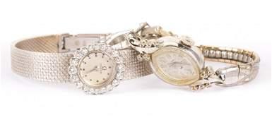 Two Lady's Diamond Dress Watches