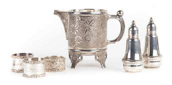 A Collection of sterling silver table items
