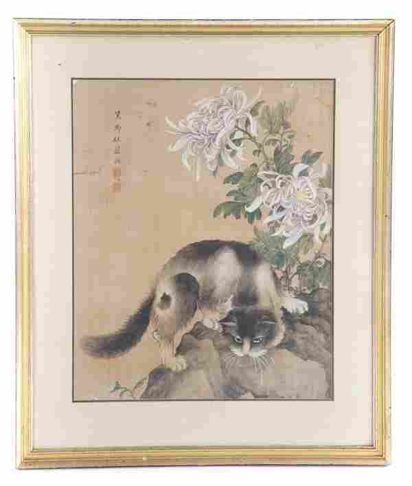 Chinese School, early 20th c. Gouache on silk
