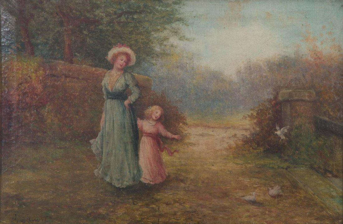 M. Stewart. A Stroll Though the Park, oil