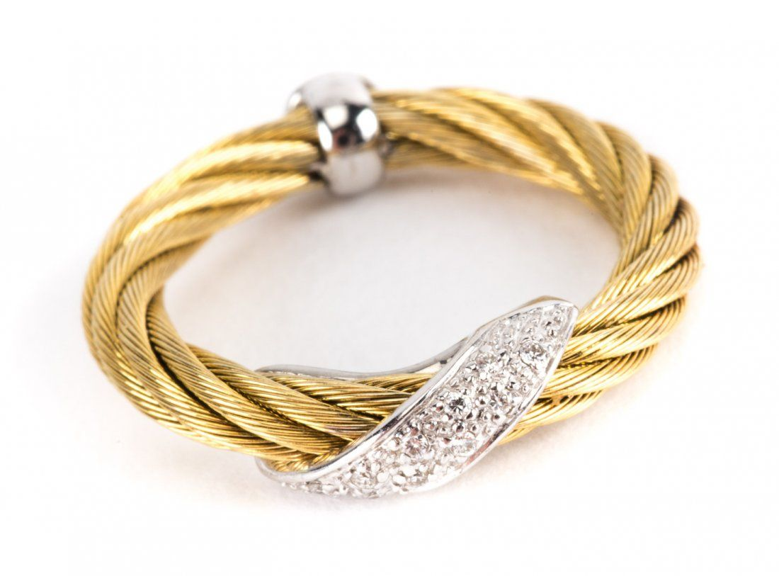 A Lady's Gold and Diamond Band by Charriol