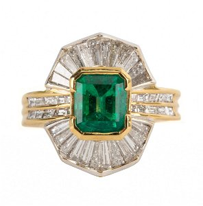 An Important Emerald & Diamond Ring by Damiani
