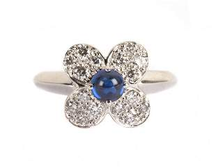 A Van Cleef and Arpels Diamond & Sapphire Ring