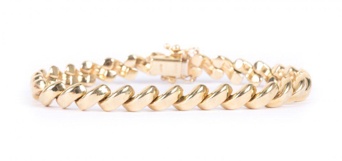 A San Marco Link Bracelet in 14K gold