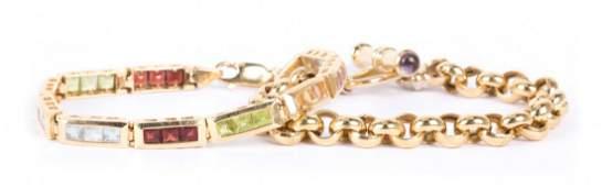 A Pair of Lady's 14K Gold Bracelets