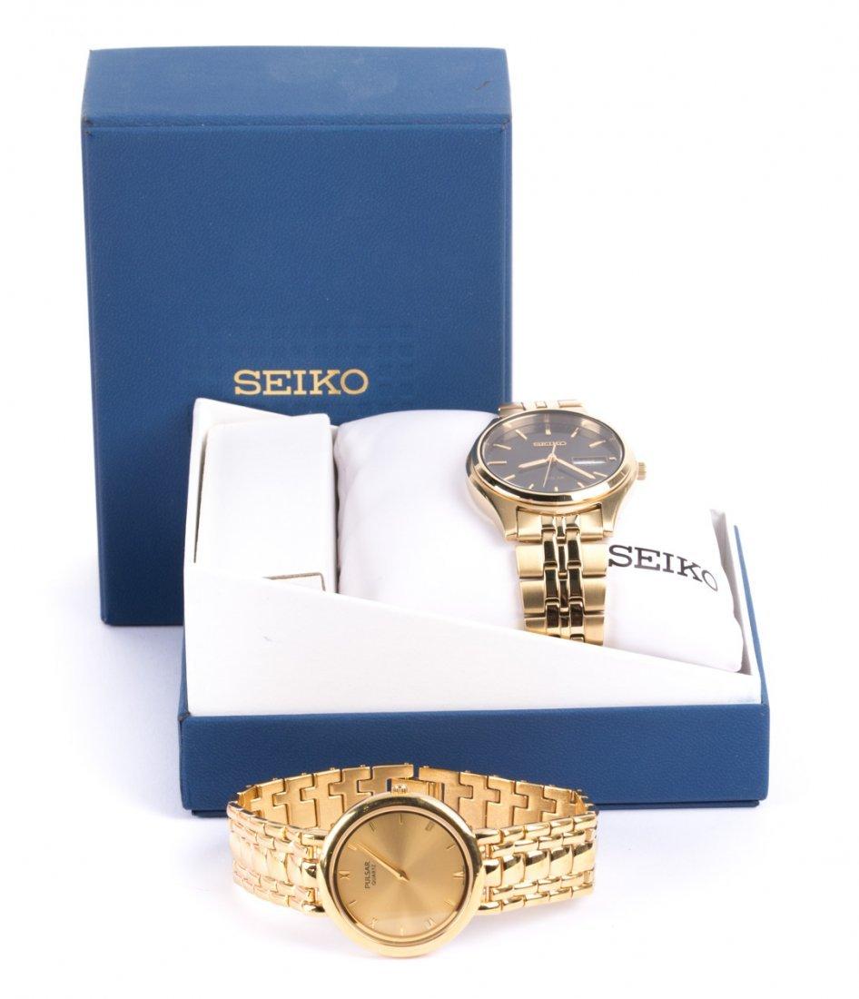Gentleman's Seiko and Pulsar Brand Wristwatches