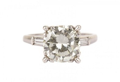 A Lady's 3 ct. Diamond Solitaire Ring