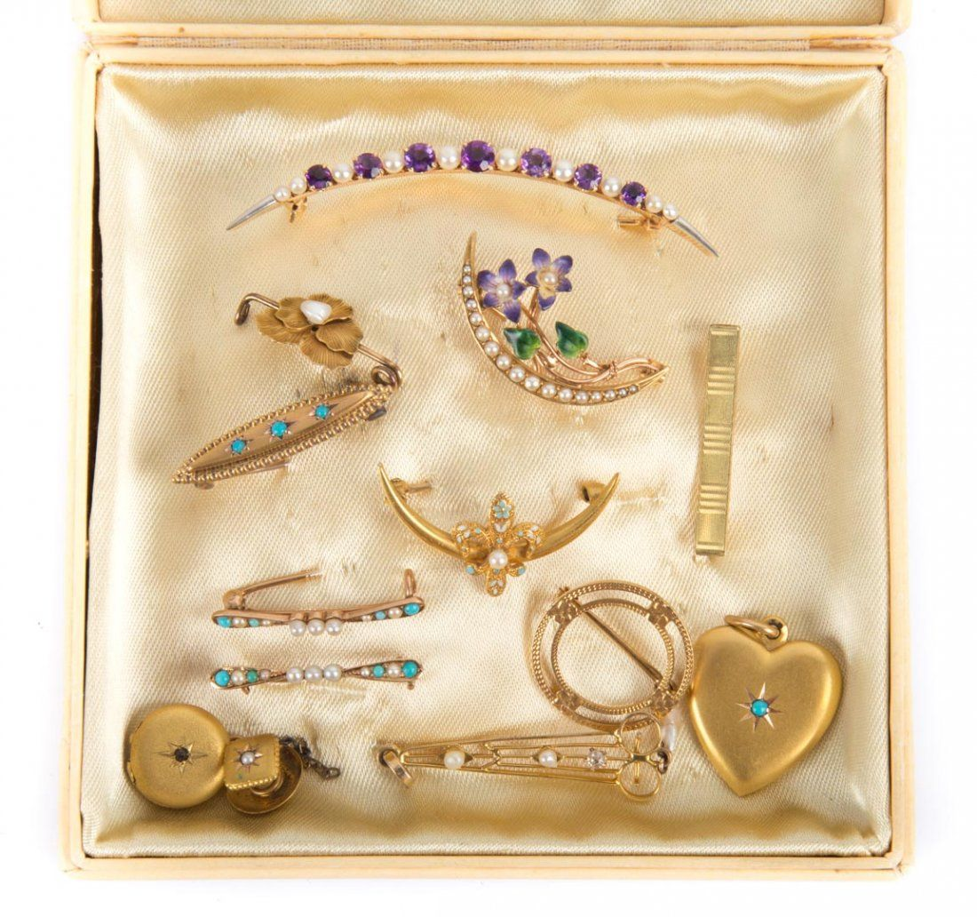 A Beautiful Collection of Miniature Pins & Charms