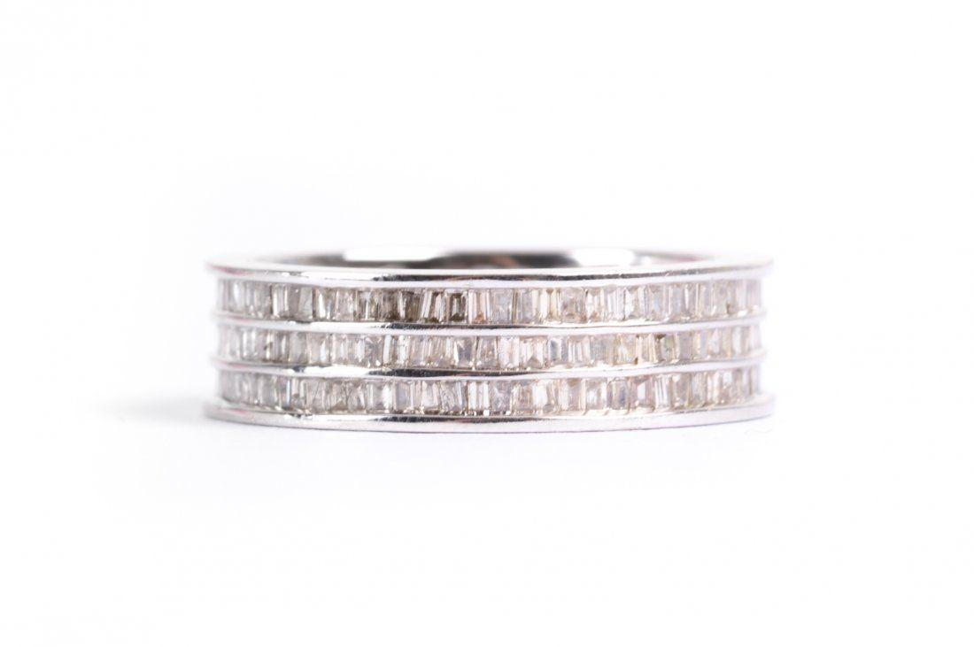 A Diamond Eternity Wedding Band in 18K White Gold