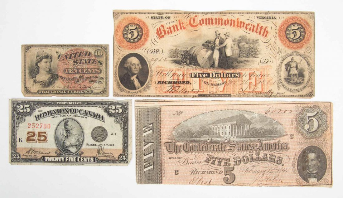 [US] Fractional, Obsolete and Confederate Currency