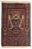 Fine Persian Tabriz prayer rug approx 311 x 58