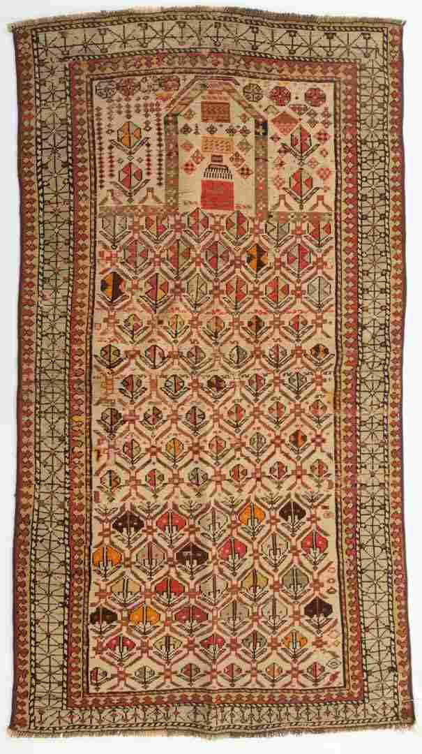 Antique Shirvan rug, approx. 3.1 x 5.6