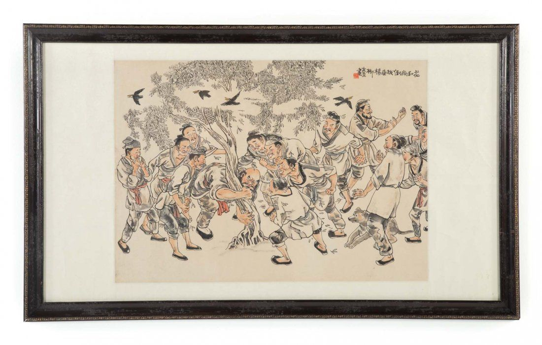 Chinese School, 20th c. gouache on paper
