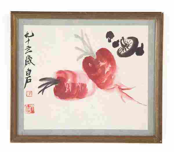 Chinese School 20th c. gouache on paper